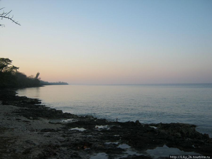 Рассвет на Карибском море