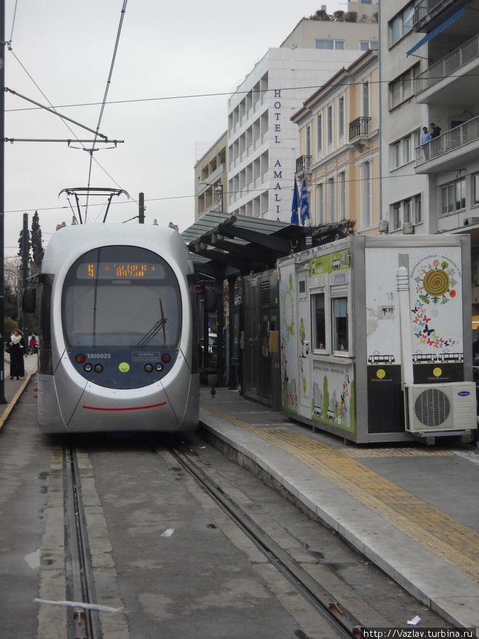 Конечная станция афинского трамвая