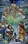 был дико удивлен, увидев ЭТО на очень видном месте в музее истории мормонской церкви. автор — некто Павел Крисоченко, изобразивший Христа и 12 апостолов и нашу родную хохлобратию :)