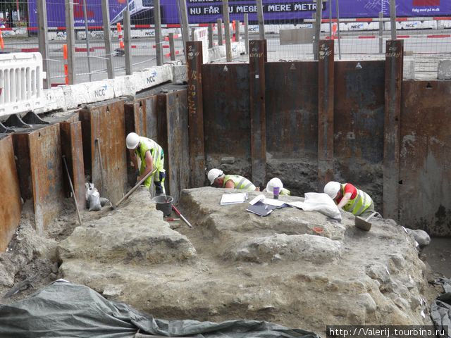 Раскопки в центре Копенгагена.