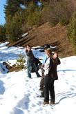 Летом эдесь рай для тех,кто любит пешие прогулки и наблюдать за птицами,зимой на лыжах,но подъемник в другом месте за городом Местия.(см мой материал...Хацвали...)