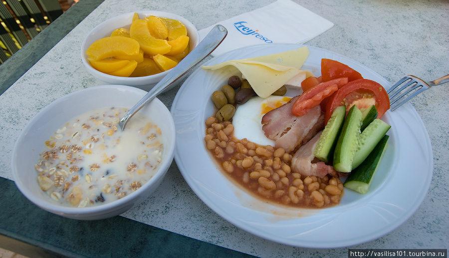 Завтрак в отеле Thalassak