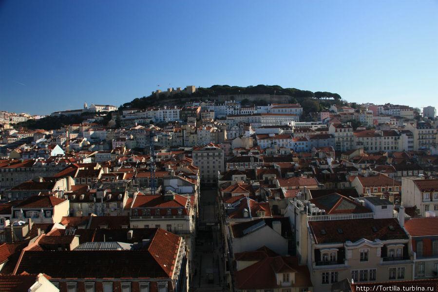 Лиссабон. Вид с подъемника Санта Жуста
