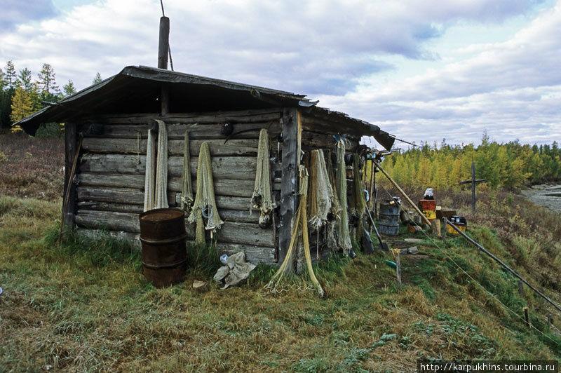 Единственная избушка на зимовье Юдома-Крестовская.