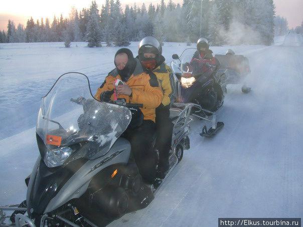 Бешенные финские снегоходы Уккохалла, Финляндия