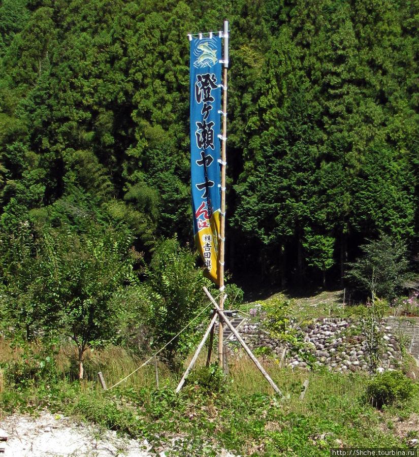 Вывеска у дороги, указывающая на место употребления айю
