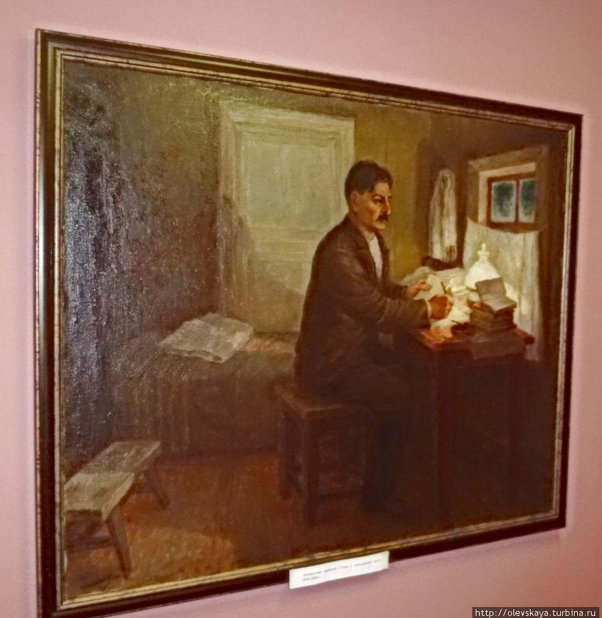 Молодой Сталин в вологодской ссылке. Работа неизвестного художника