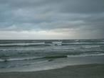 песчаные пляжи Балтийска и начинающийся шторм