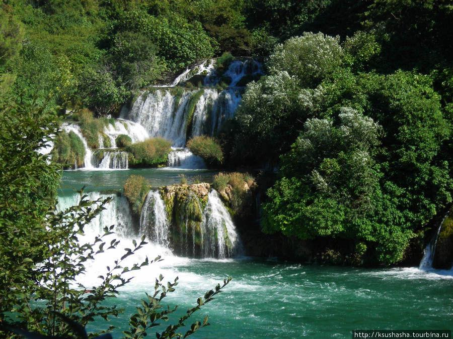 Окунуться в зелёную палитру КРКа Национальный парк Крка, Хорватия