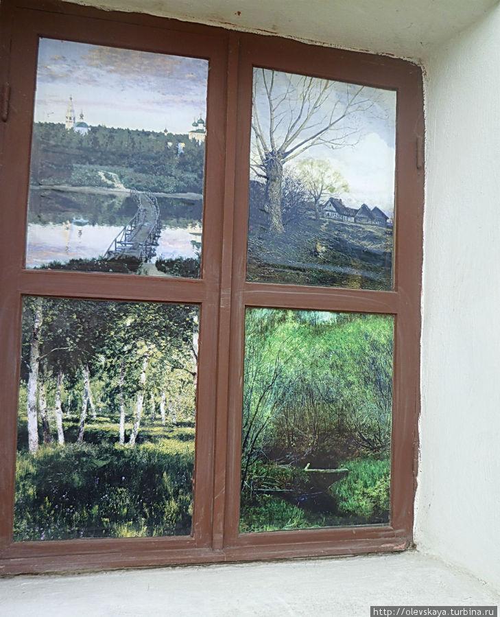 Все напоминает о Левитане: и это декоративное окно, и названия блюд...