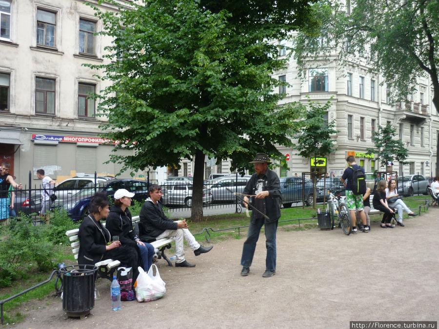 Сквер у памятника Пушкину