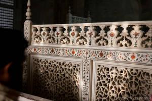 Тадж-Махал, внутренняя часть, мраморная ограда гробницы Мумтаз-Махал