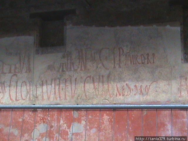 Предвыборная агитация на стенах домов.