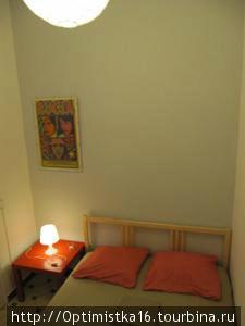 В этой комнате мы ночевали.