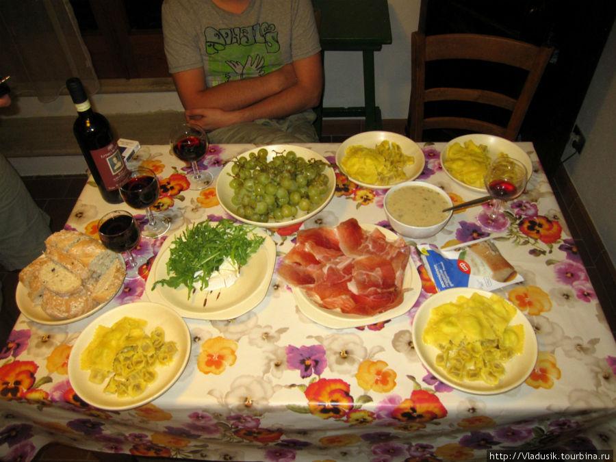 Приготовили скромный ужин