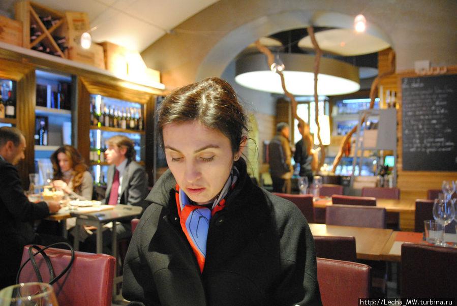 Одна из посетительниц ресторана :)