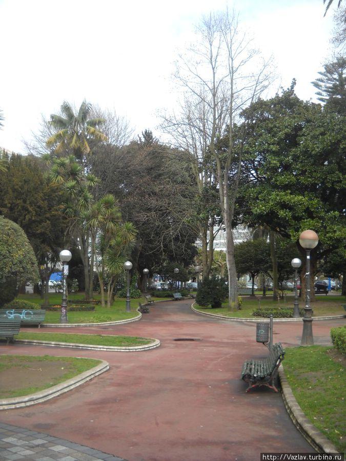 Один из уголков парка