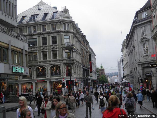 Район Сторторгет — пешеходная зона с множеством торговых улочек