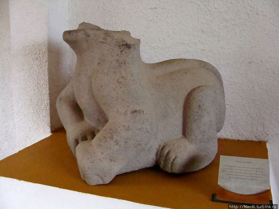 Обезглавленная статуя ягуара трансформирующегося в человека. Обезглавили статуи враги, завоевавшие ольмеков.