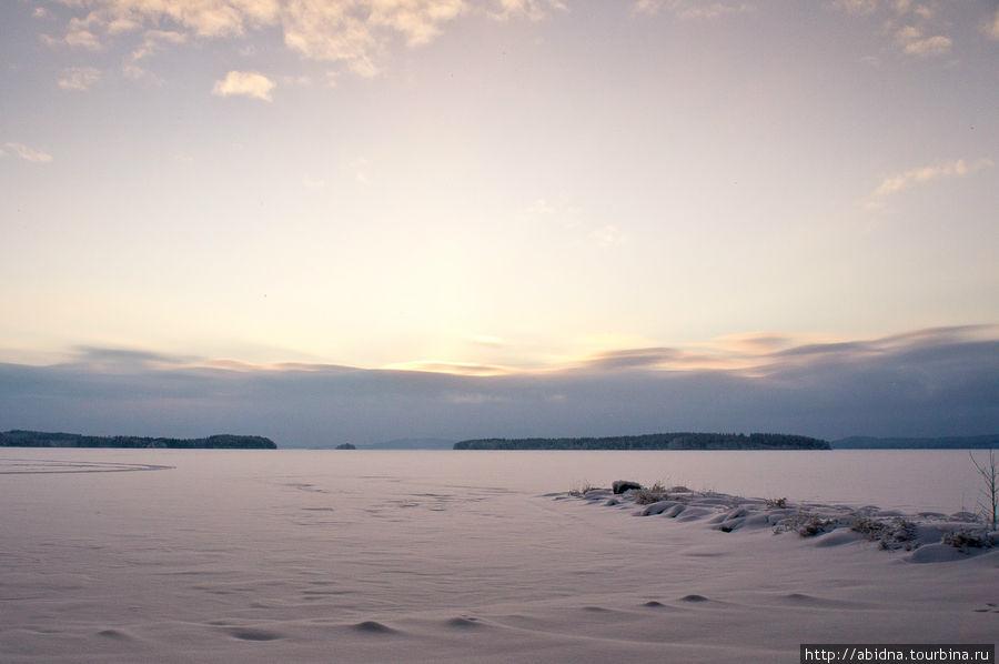 Сказочная зима в Финляндии Нурмес, Финляндия