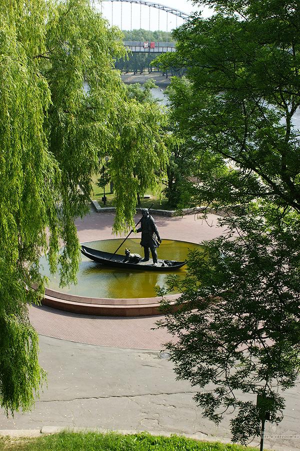 Памятник первому поселенцу Гомель, Беларусь
