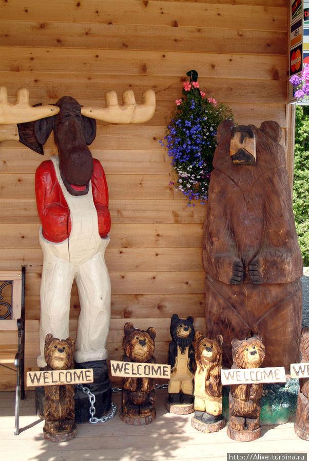 Сувениры по-аляскински: вам лося или медведя?