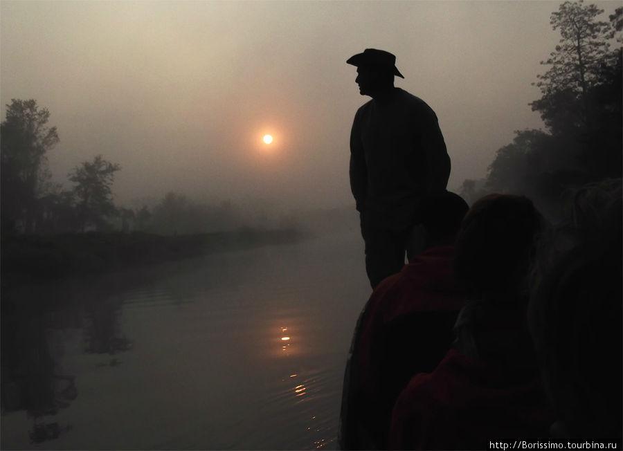 Опустился туман и видимость несколько ухудшилась...