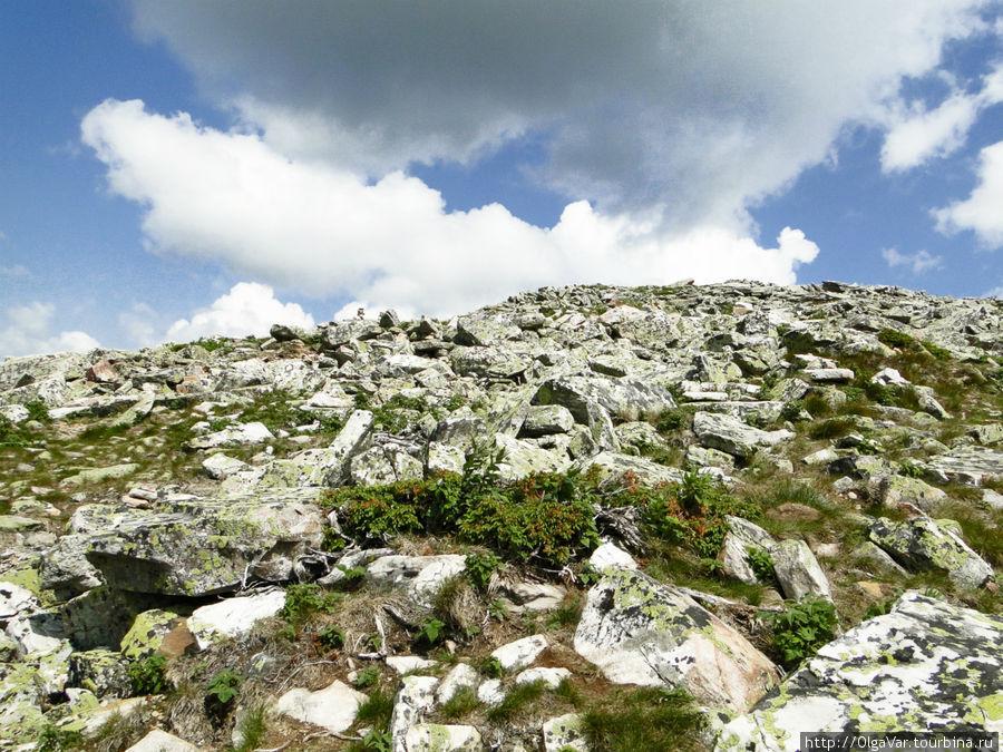 Кажется, что до вершины недалеко, но это впечатление обманчиво. Вот такая гора Круглица — голые камни Златоуст, Россия