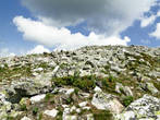 Кажется, что до вершины недалеко, но это впечатление обманчиво. Вот такая гора Круглица — голые камни