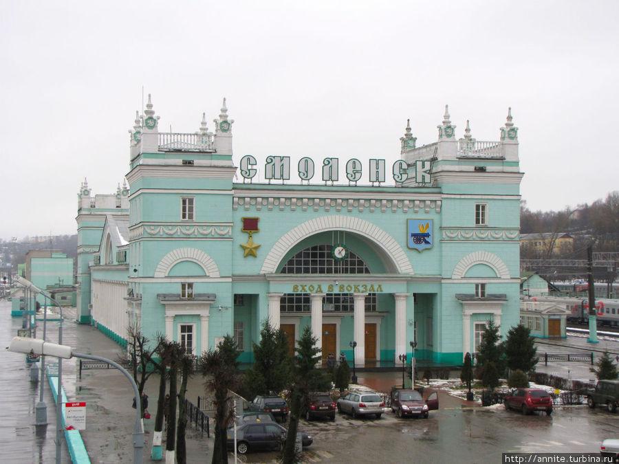Красавец железнодорожный вокзал.