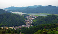 Вид на город с вершины горы (на которую ходит канатная дорога)
