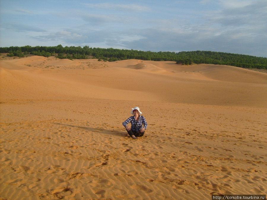 А это в красных дюнах.