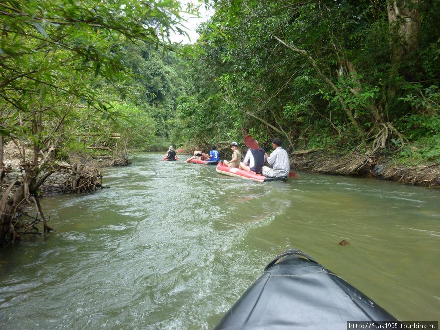 Южный Таиланд. Национальный парк Као Сок. На каяках по реке Сок.