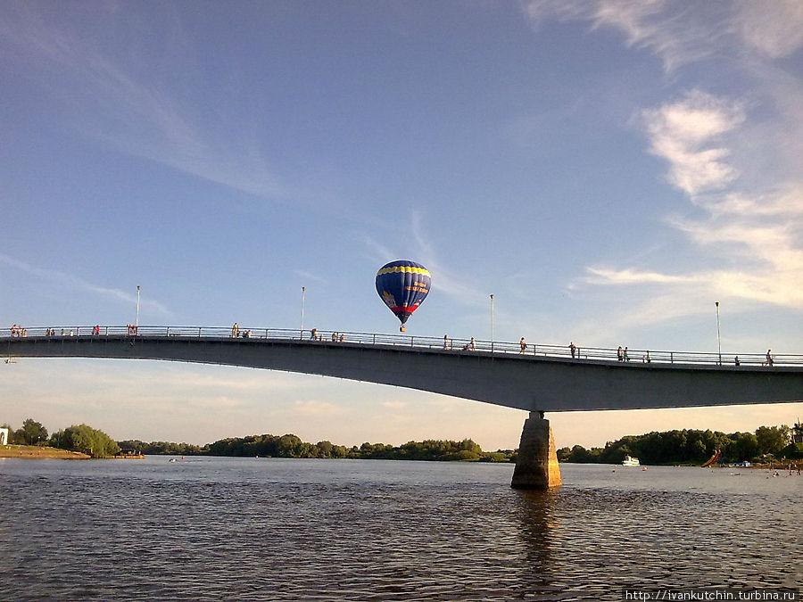 При отправлении был замечен летающий объект типа воздушный шар.