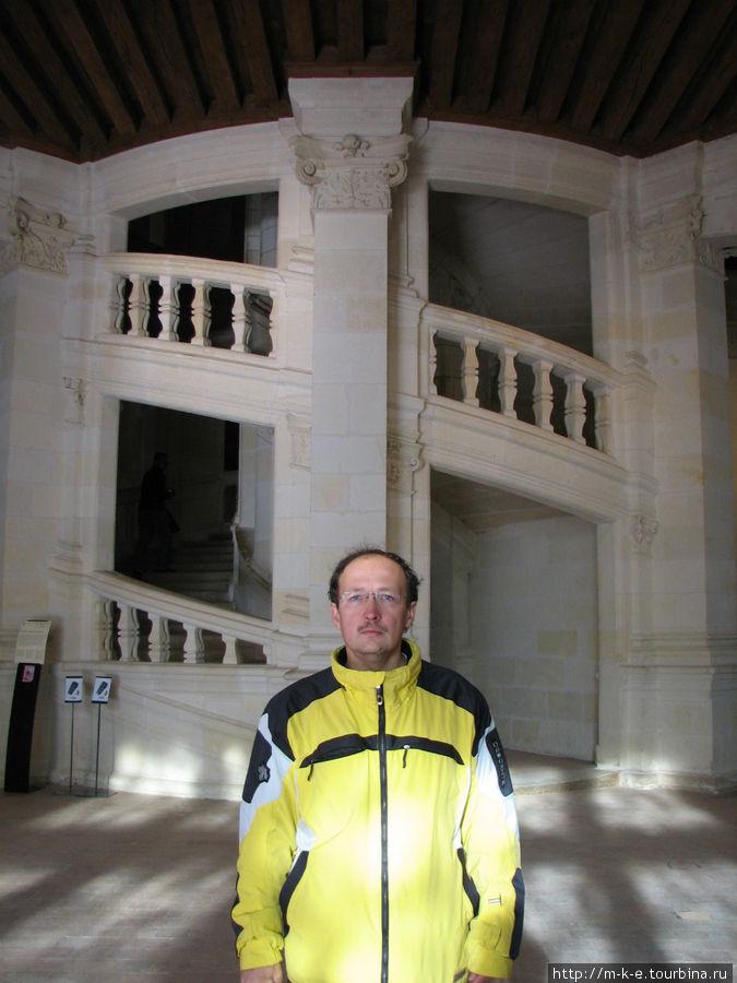 Большая лестница замка Шамбор