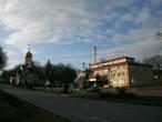 главная площадь города и администрация Гурьевского района