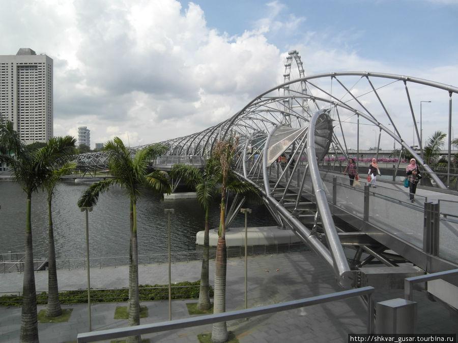 Пешеходный мост и колесо