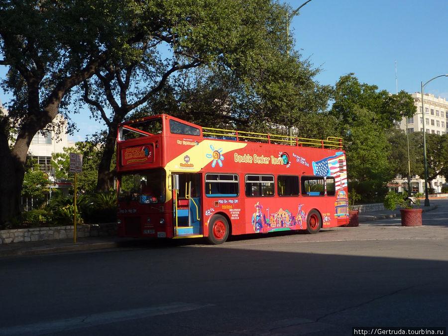 А это двухъэтажный автобус для экскурсий