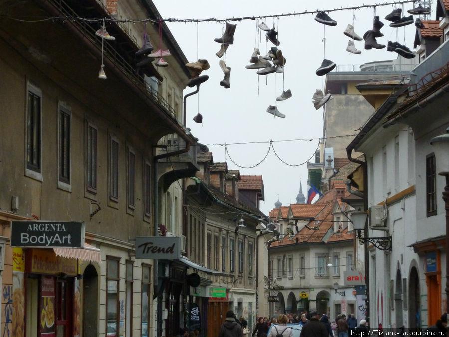 Любляна.Старая улочка