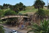 Чудный мостик через автостраду к сожалению закрыт