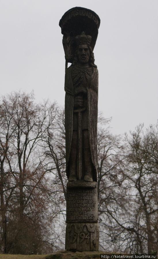Современный памятник великому князю Витаутасу