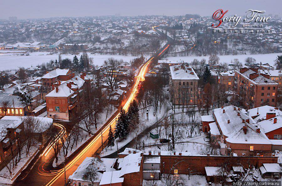 Улица Козицкого и выезд на старогородский мост.