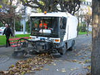 листьеуборочная машинка