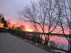 Закат на набережной реки Пертомки