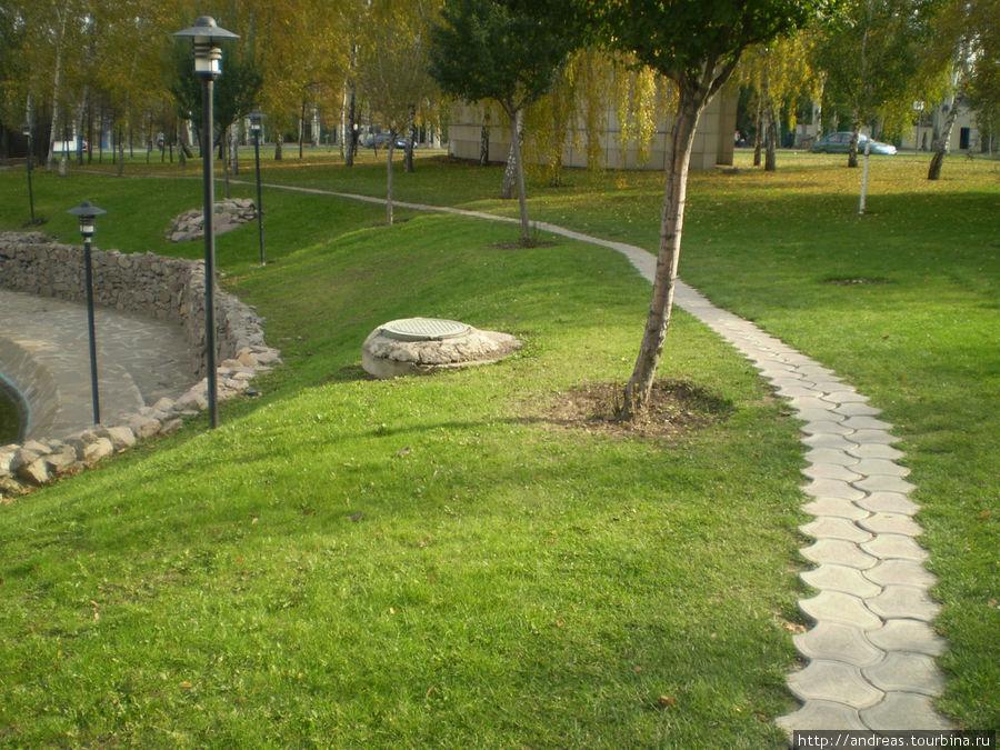 Парк возле Донбасс-Арены