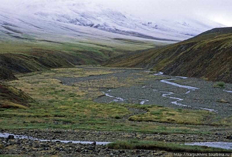 Устье Хороньжи Верхней. Верховья Сунтара и наш дальнейший путь к перевалу.