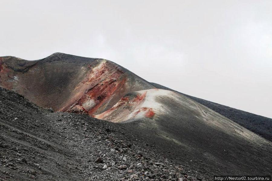 Каждое новое извержение начинается с нового места. Этот кратер свое уже отработал.