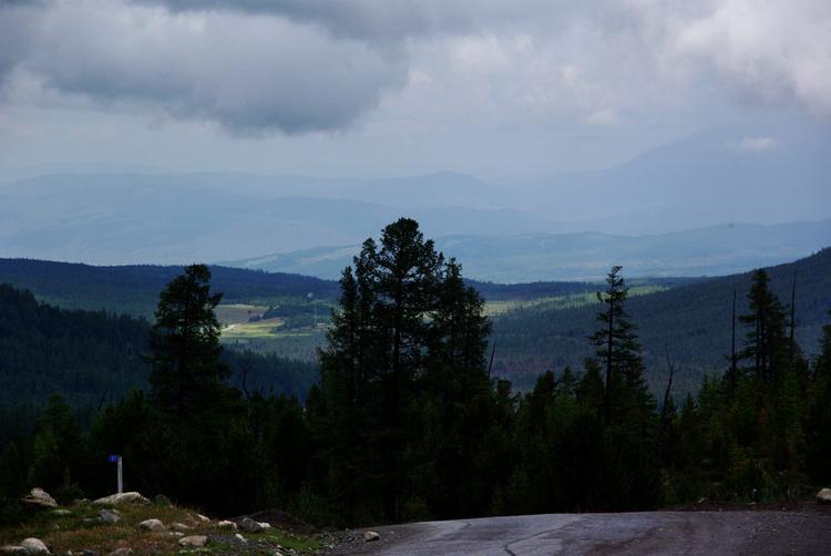 Вид с Улаганского перевал