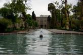в парке Golestan Palace.