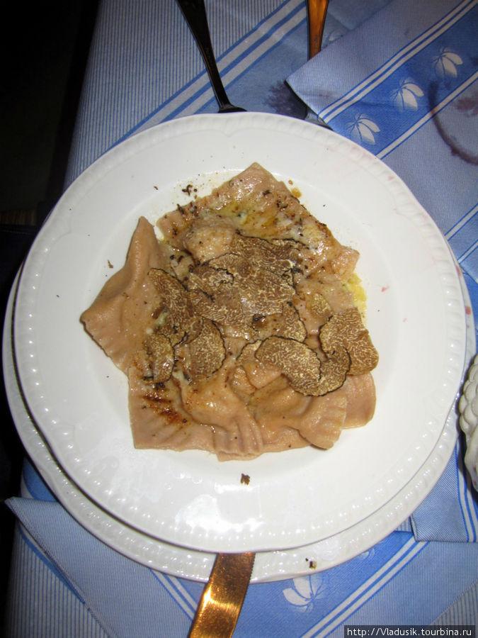 Паста с тертыми трюфелями